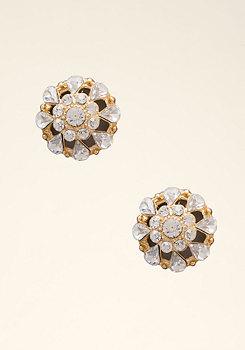 bebe Crystal Dome Stud Earrings
