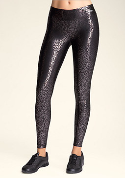 bebe Animal Foil Leggings