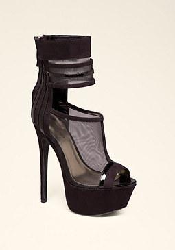 bebe Bilinda Mesh Suede Sandals