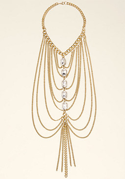 bebe Linear Draped Necklace