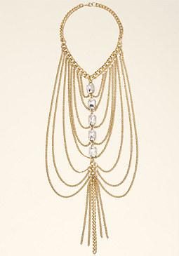 bebe Linear Draped Necklace