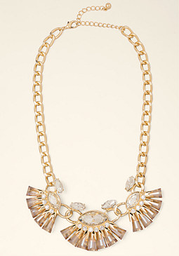 Crystal Fan Necklace at bebe