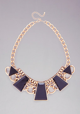 Geometric Stone Necklace at bebe