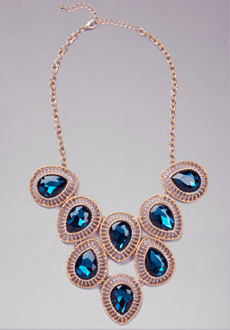 bebe Teardrop Jewel Necklace
