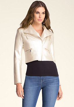 bebe Metallic Jacket