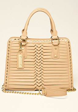 Riley Pleat Tote at bebe