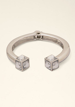 bebe Square Gem Open Cuff