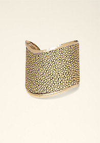 bebe Leather & Textured Cuff