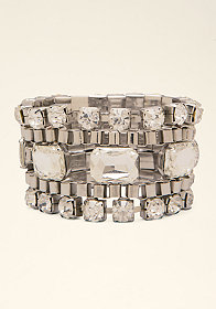 bebe Multi-Row Crystal Bracelet