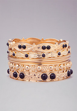 Beaded Bangle Set at bebe