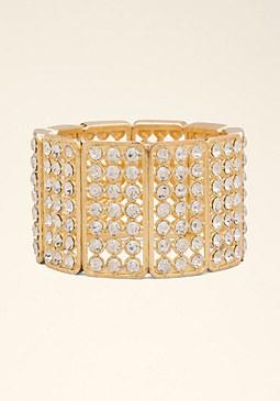 bebe Crystal Stretch Bracelet