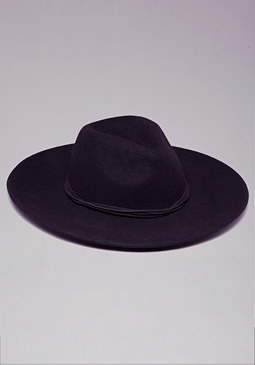 bebe Faux Suede Band Floppy Hat
