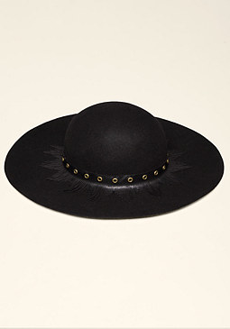 Fringe Floppy Hat at bebe