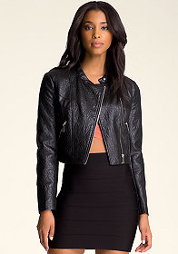 bebe Tessa Faux Leather Jacket