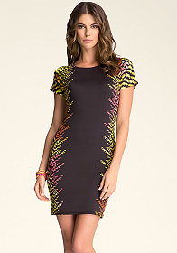 bebe Boatneck Bodycon Dress