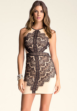 Lace Halter Dress at bebe