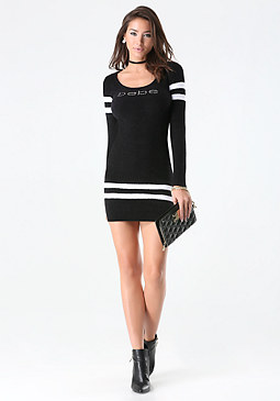 bebe Striped Chenille Dress