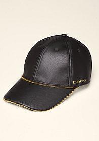 Zip Faux Leather Cap at bebe