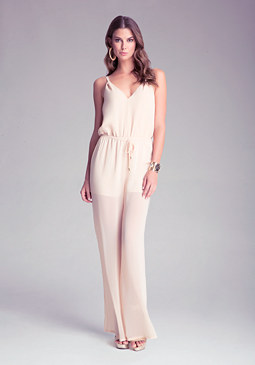 Petite Wide Leg Jumpsuit at bebe