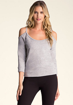 bebe Cold Shoulder Pullover����