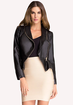 bebe Olivia Leather Jacket