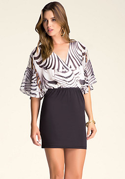 Cutout Dolman Sleeve Dress at bebe