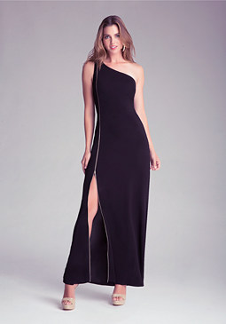 bebe Petite Zip-Up Maxi Dress