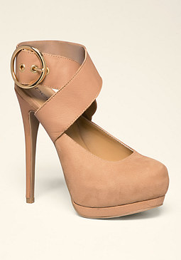bebe Audryna Buckle Pumps