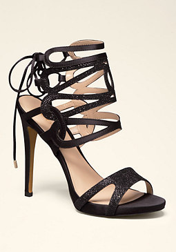 bebe Ellia Strappy Caged Sandals