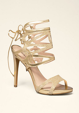 bebe Ellia Strappy Caged Sandals