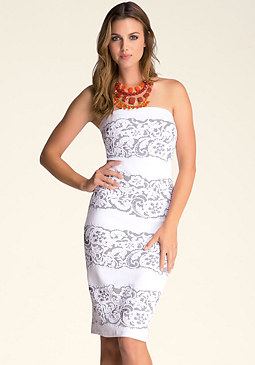 bebe Lace Panel Tube Dress