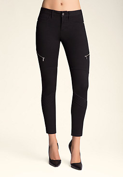 Moto Zip Skinny Pants at bebe