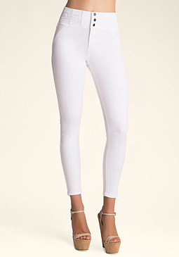 Corset Waist Skinny Jeans at bebe