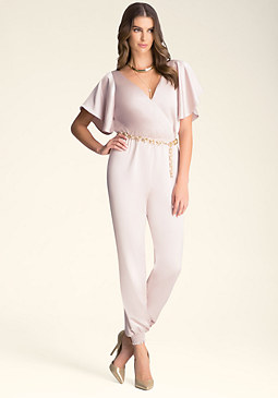 Flutter Sleeve Jumpsuit at bebe
