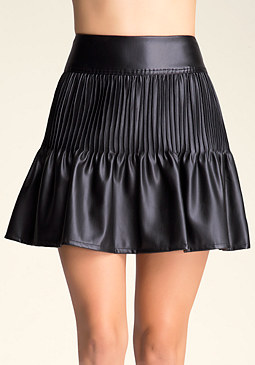 bebe Pleated Miniskirt