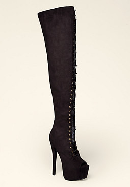 Ivee Lace Up Boot at bebe