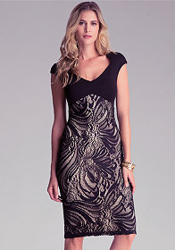 bebe Petite Shelly Lace Dress