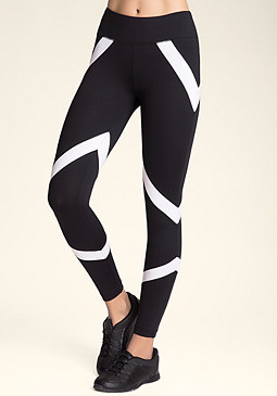 bebe Black & White Leggings