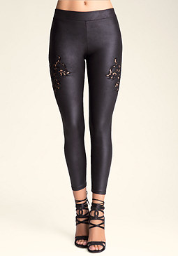bebe Lace Inset Leggings