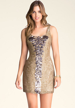 bebe Embellished Lace Dress