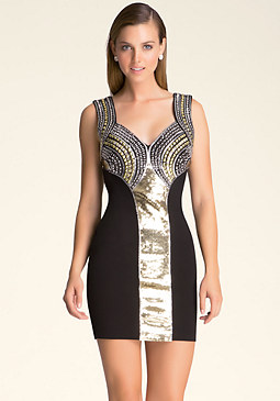 bebe Multi-Studded Dress