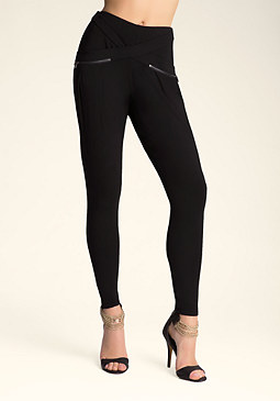 bebe Crossover Drape Atlas Pants