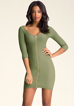 bebe Exposed Zip Dress