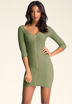 bebe Exposed Zip Dress