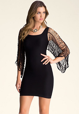 bebe Evita Slash Sleeve Dress