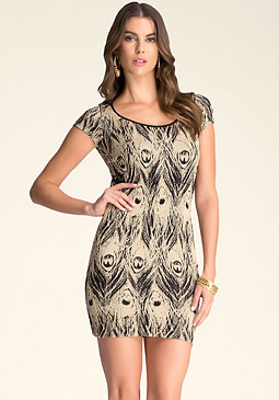 bebe Metallic Sizzle Dress