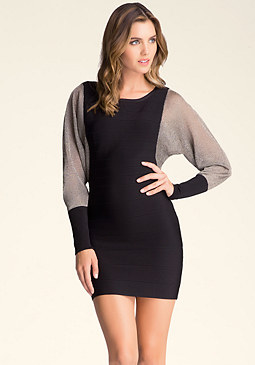 bebe Dolman Sleeve Bandage Dress