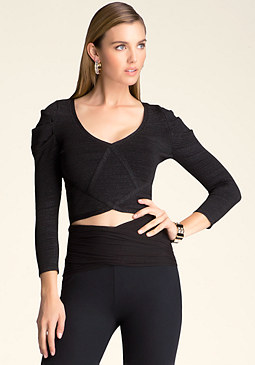 bebe Sparkle Crop Top