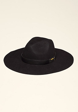 bebe Faux Leather Trim Fedora