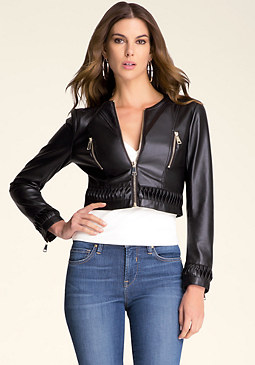 bebe Jane Faux Leather Jacket